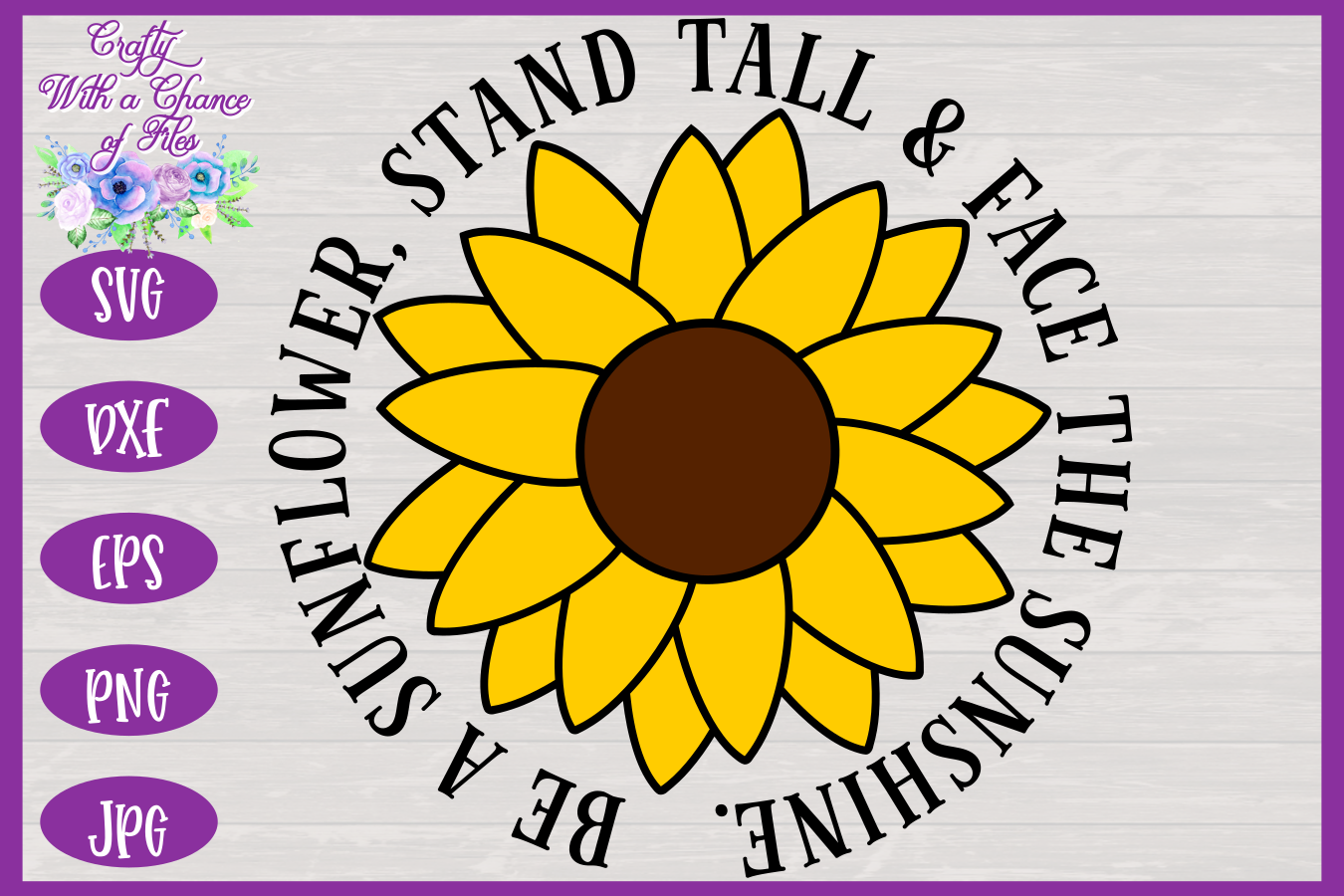 Be a Sunflower SVG | Autumn SVG | Sunflowers SVG | Fall SVG example image 3