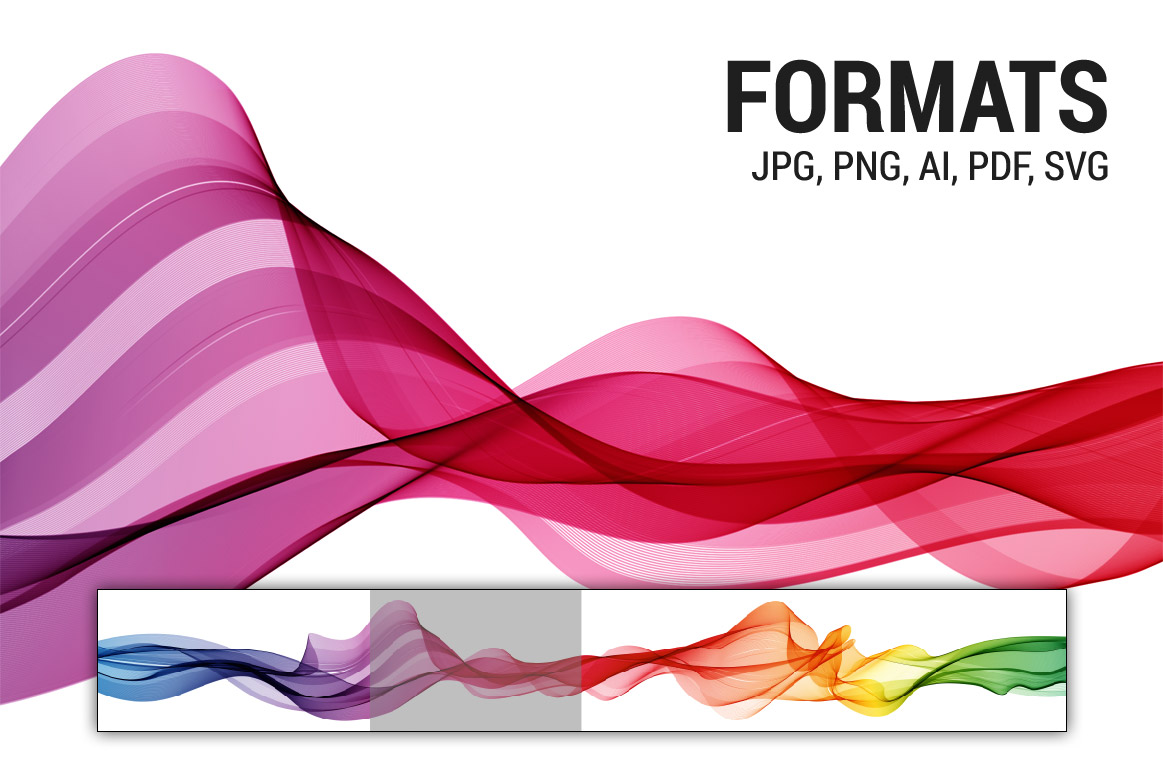 Abstract vector spectrum wave background example image 2