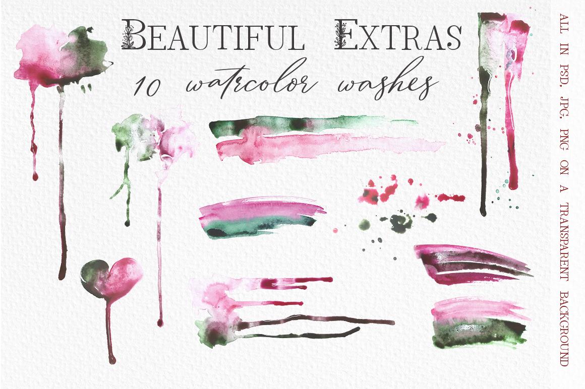 Rose Petals. Font duo Bonuses. example image 11