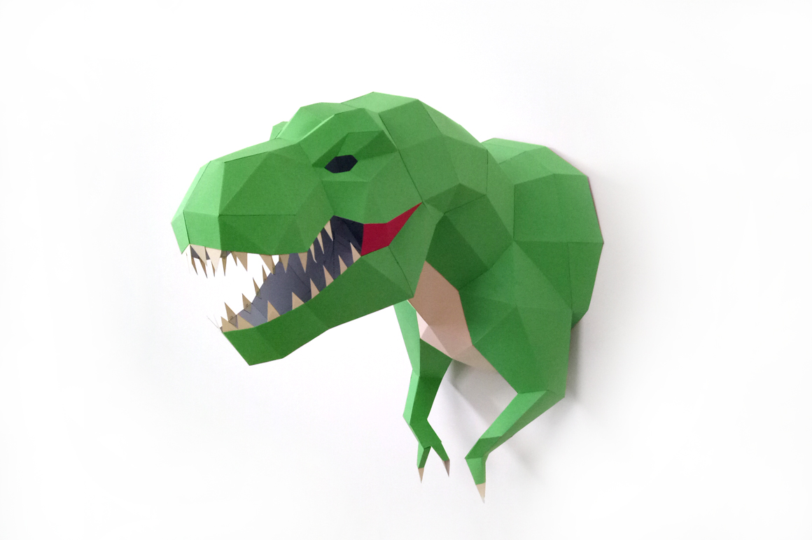 DIY T- rex Trophy - 3d papercraft