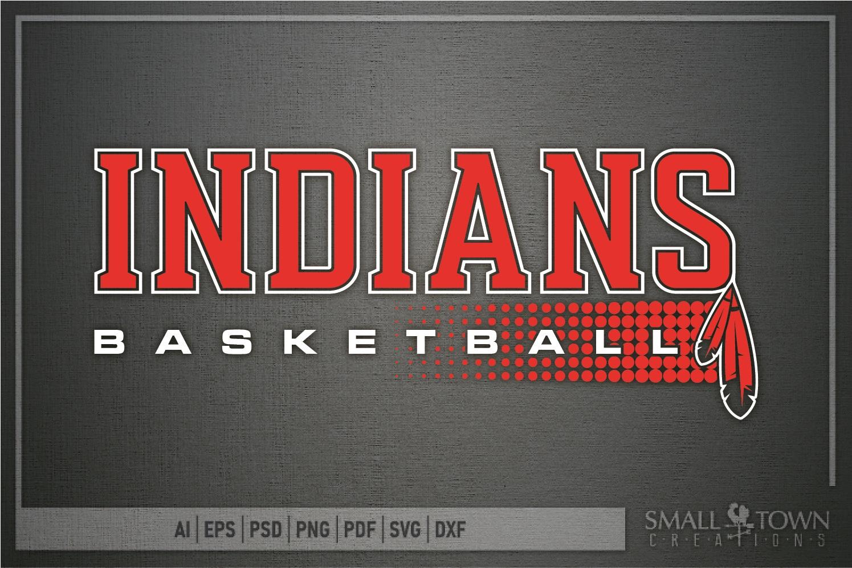 Indian, Indian basketball, Team, logo, PRINT, CUT & DESIGN example image 5