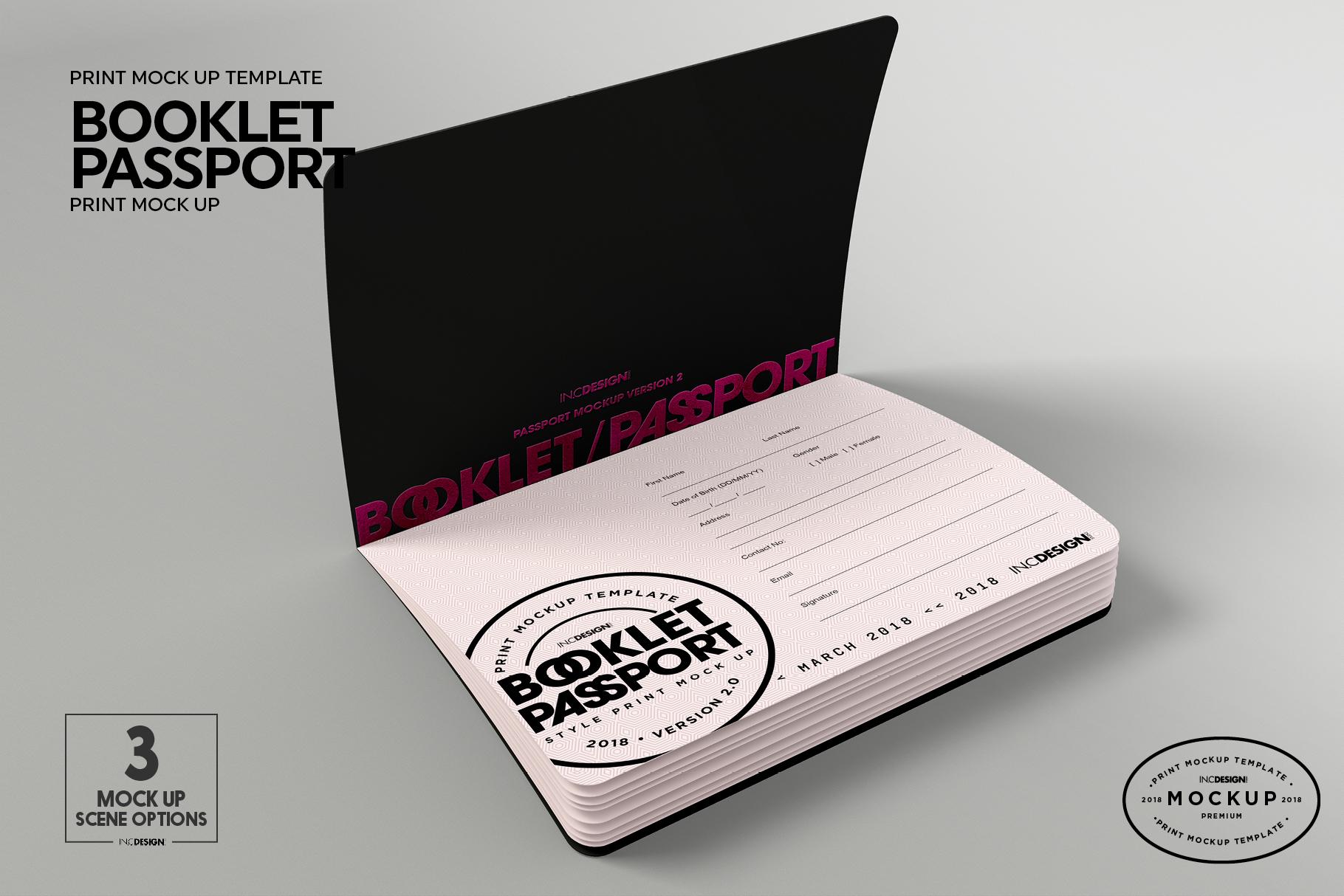 Booklet Passport Print MockUp example image 9