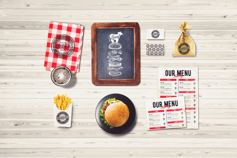 Burger Bar Branding Mock-up #1 example image 1
