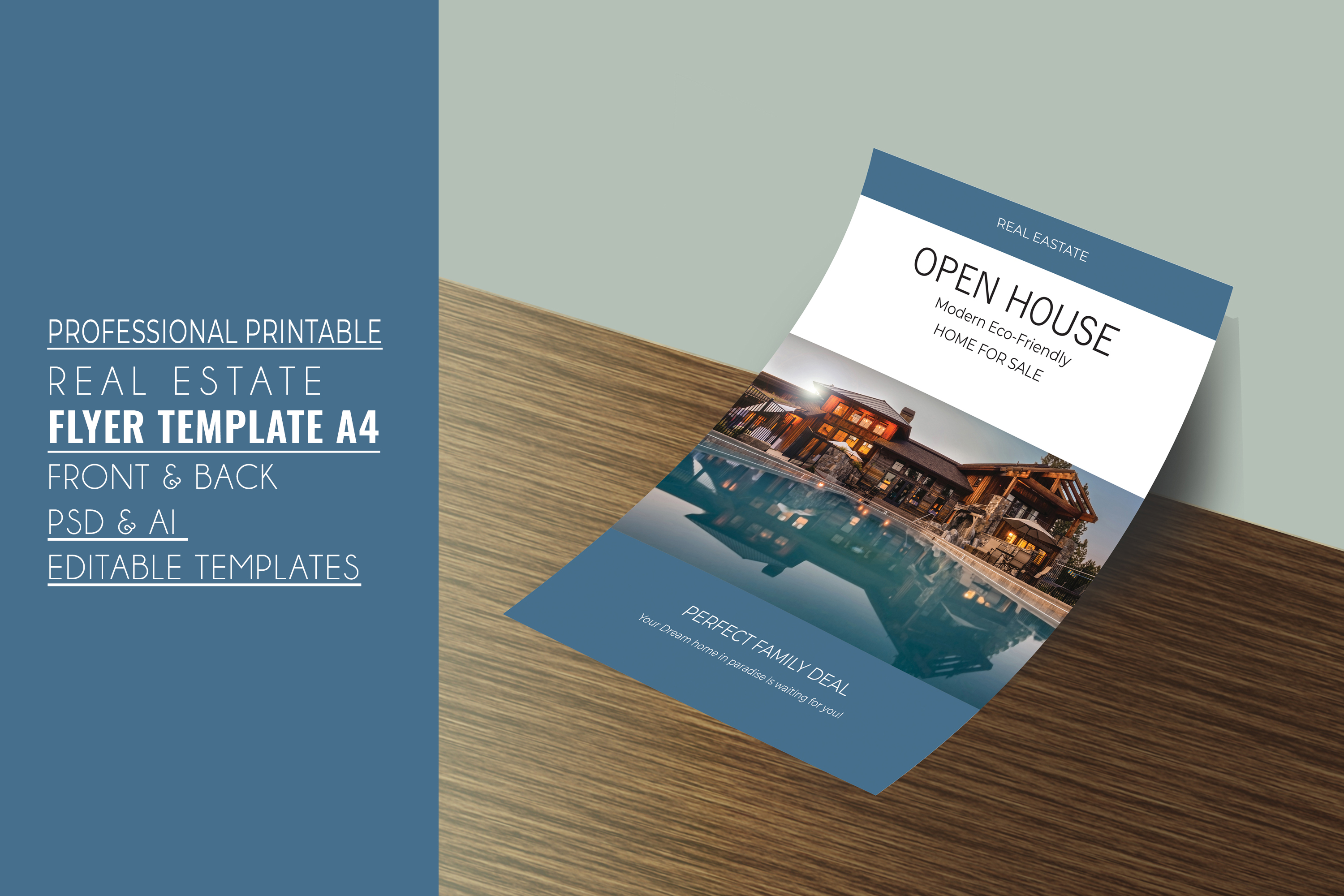 Professional Real Estate Flyer A4 - Printable Templates example image 2