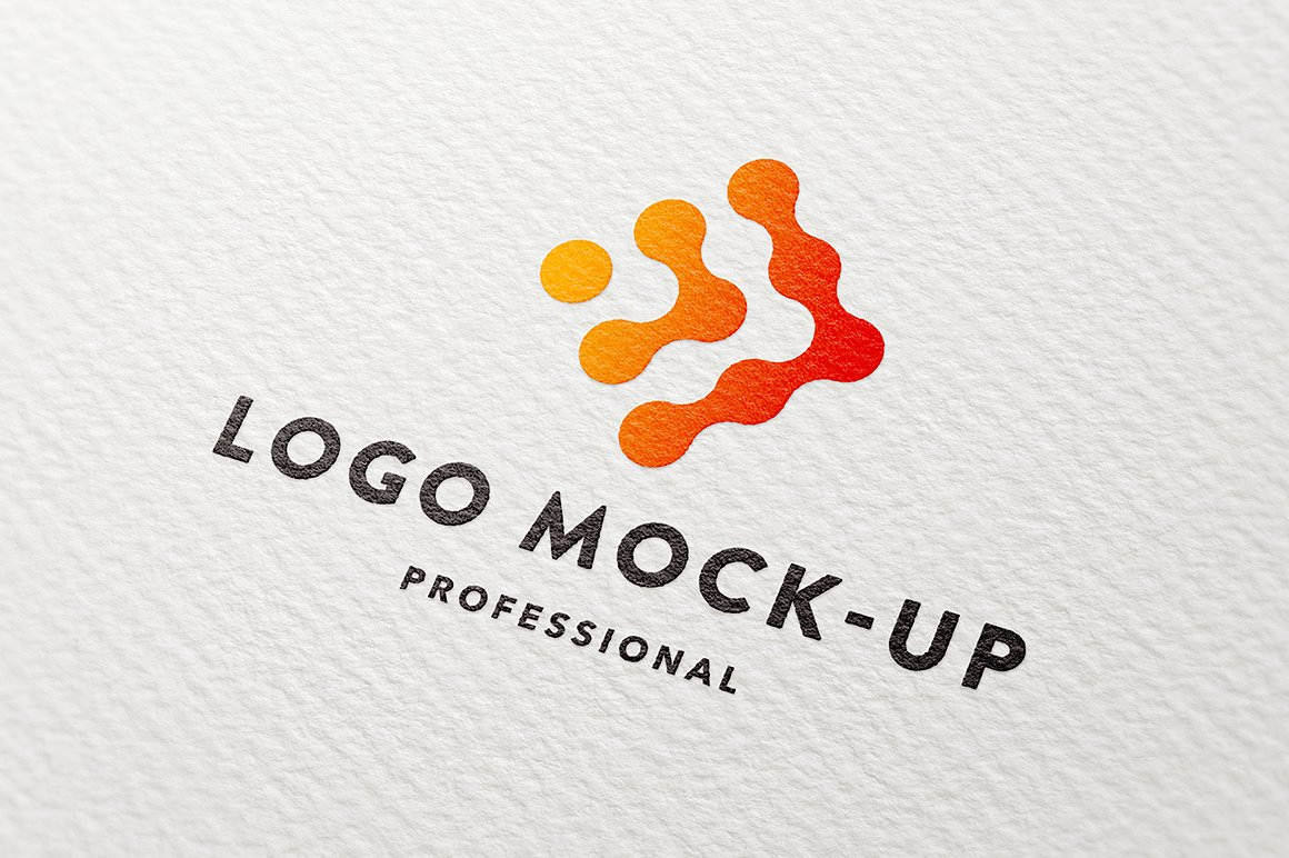 Clean paper logo mock-up example image 1