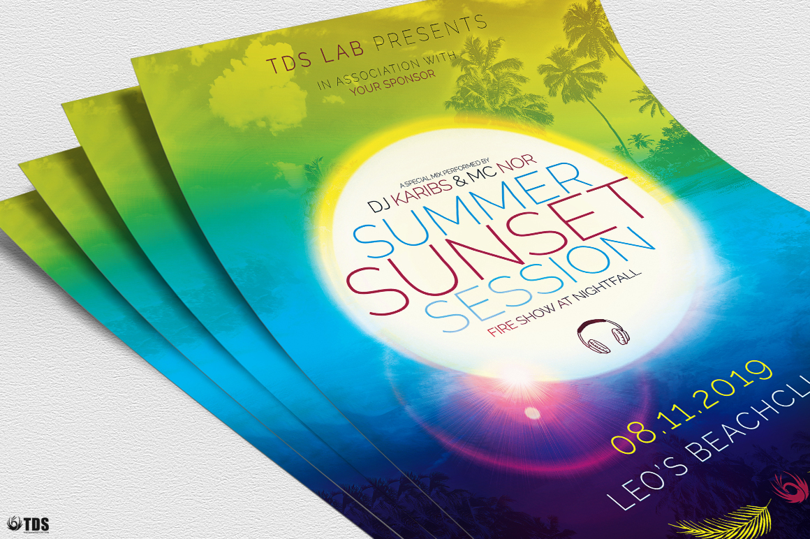 Summer Sunset Flyer Template example image 5