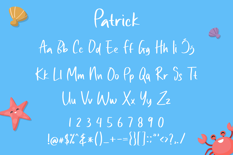 Patrick Cute Display Font example image 2