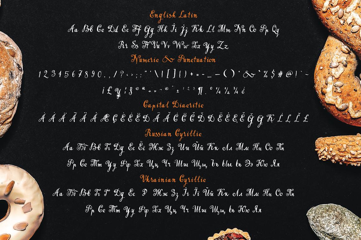Handwritten tapeface Bakery example image 10