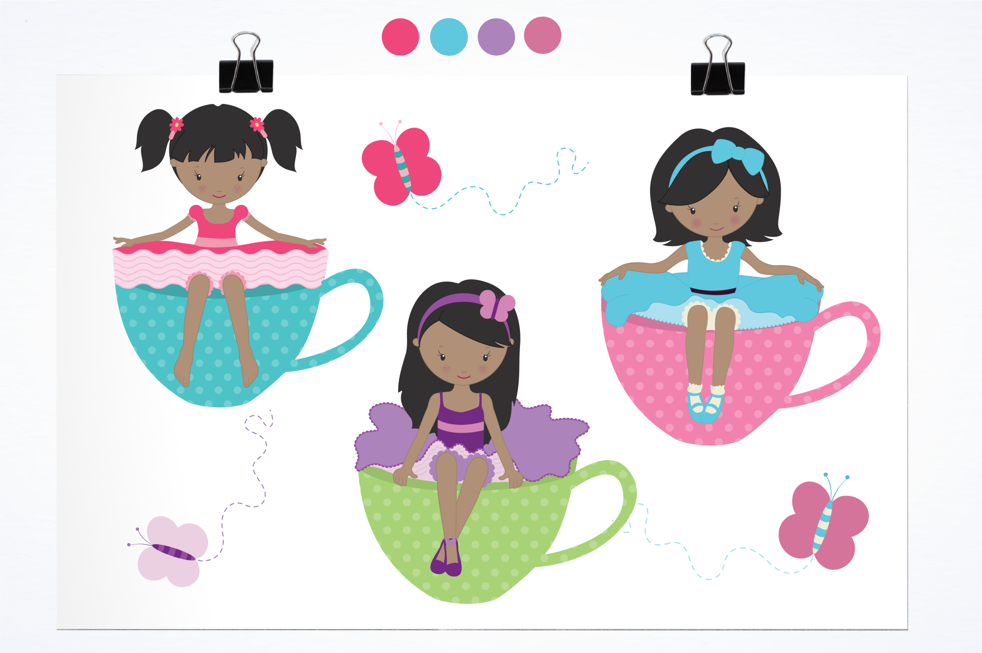 Tea Tot Girls graphics and illustrations example image 2