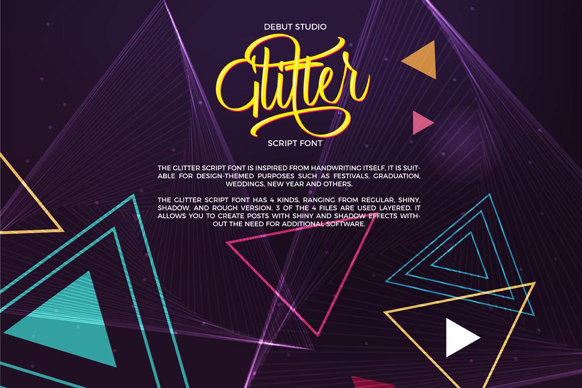 Glitter Script Font (30% Off) example image 4