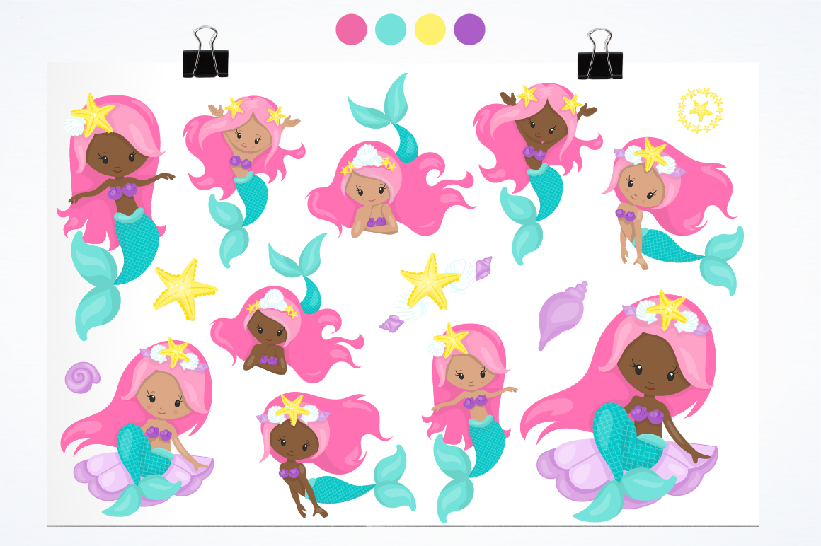 Mermaid Squad graphic and illustrations example image 4