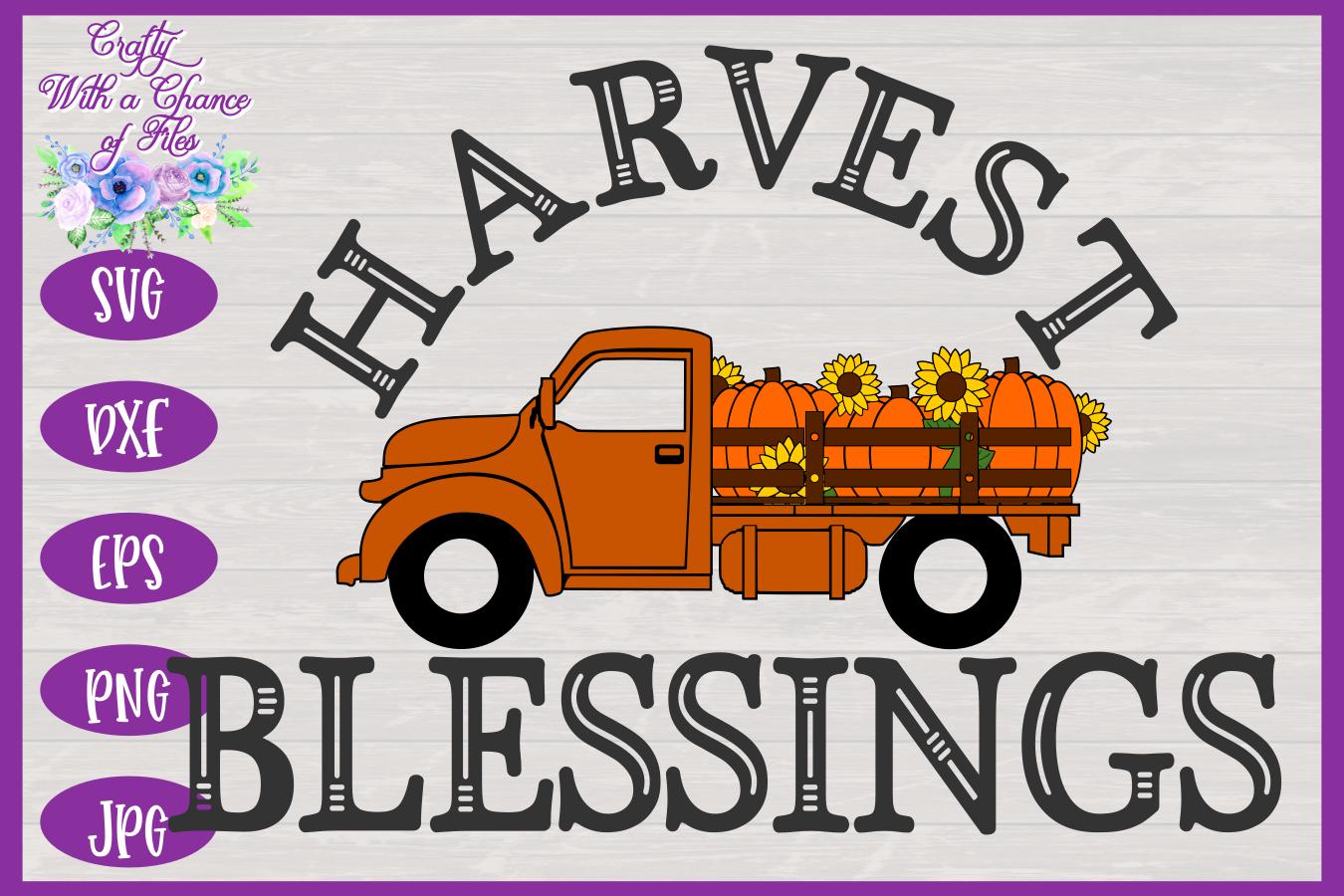 Harvest Blessings SVG | Pumpkin Truck SVG | Farm Truck SVG example image 3
