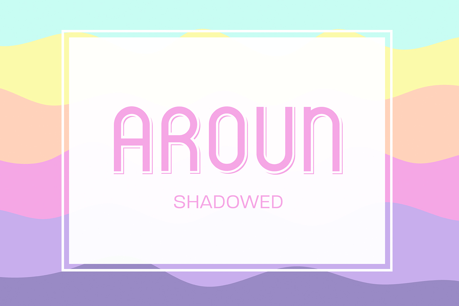 Aroun|All Caps Typeface| 5 Styles Included example image 4