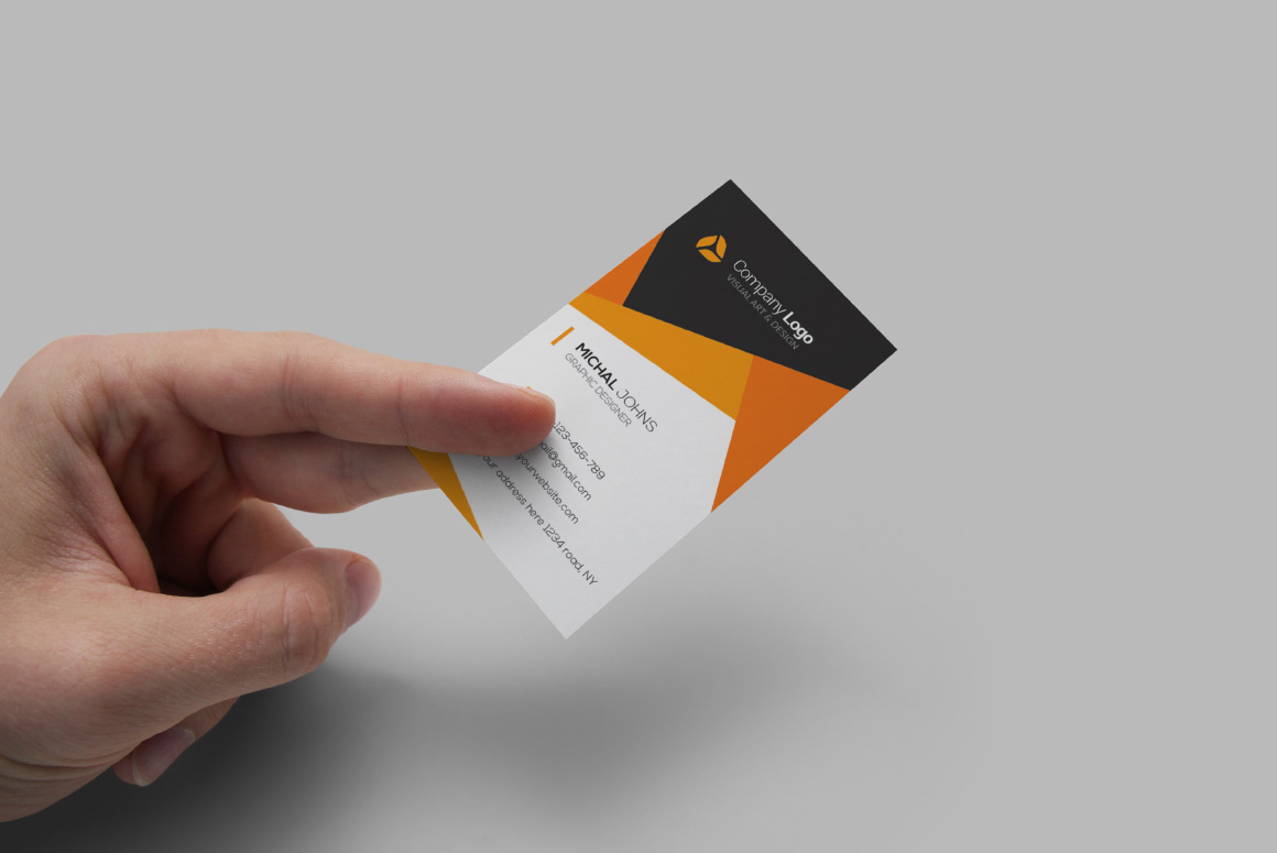 Realistic Business Card Mockups example image 4