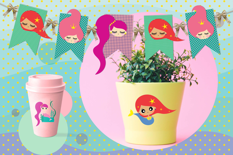 Cute mermaids & unicorns high res example image 4