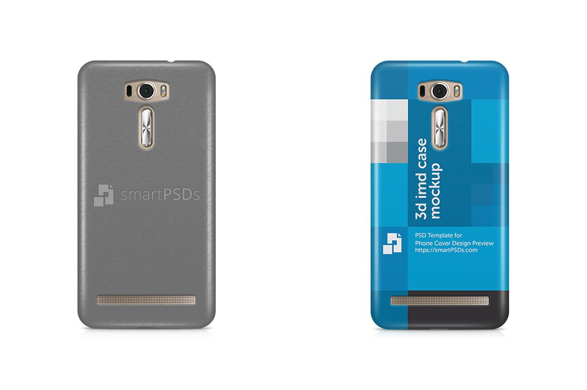Asus Zenfone 2 Laser ZE601KL 3d IMD Mobile Case Design Mockup  2015 example image 1