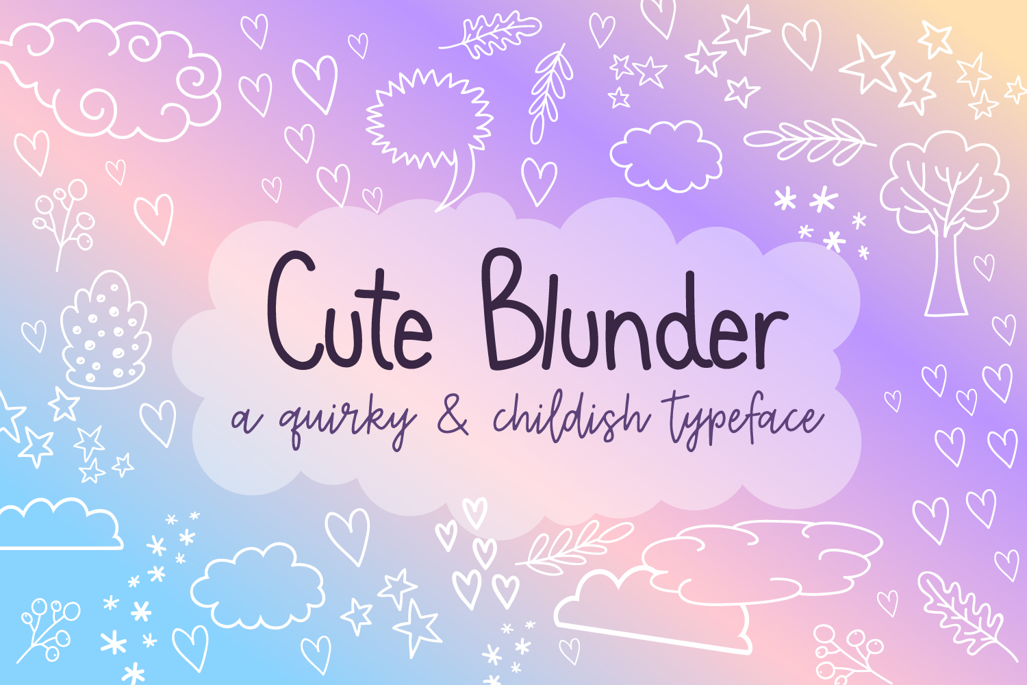 Cute Blunder- quirky hand-drawn font example image 1