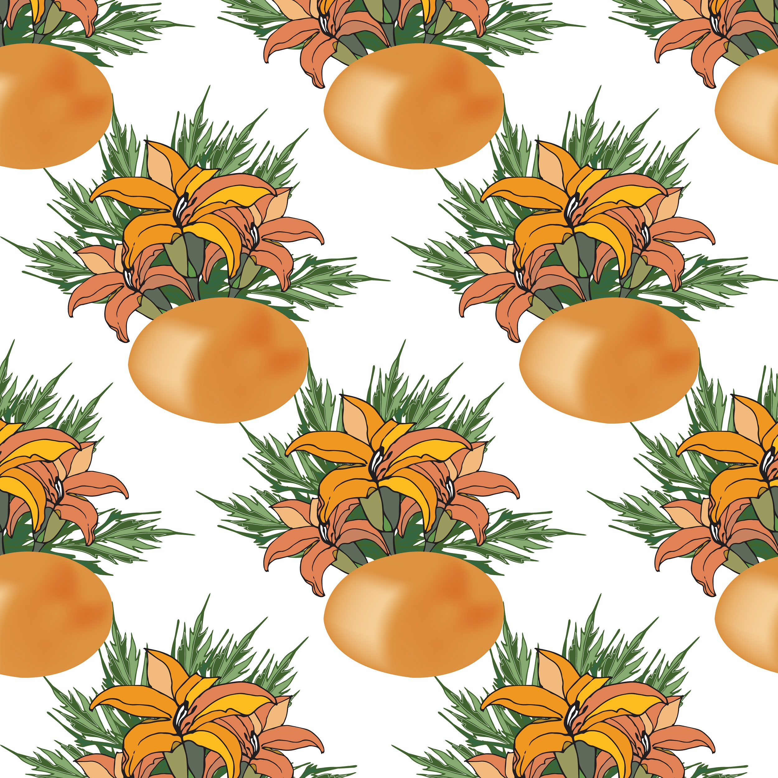 Easter pattern. Seamless pattern with Easter motifs. example image 5
