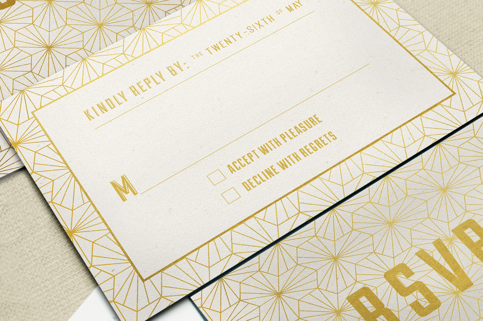 Elegant Geometric Wedding Invitation example image 3