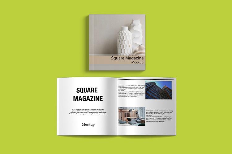 Square Magazine Mockup example image 5
