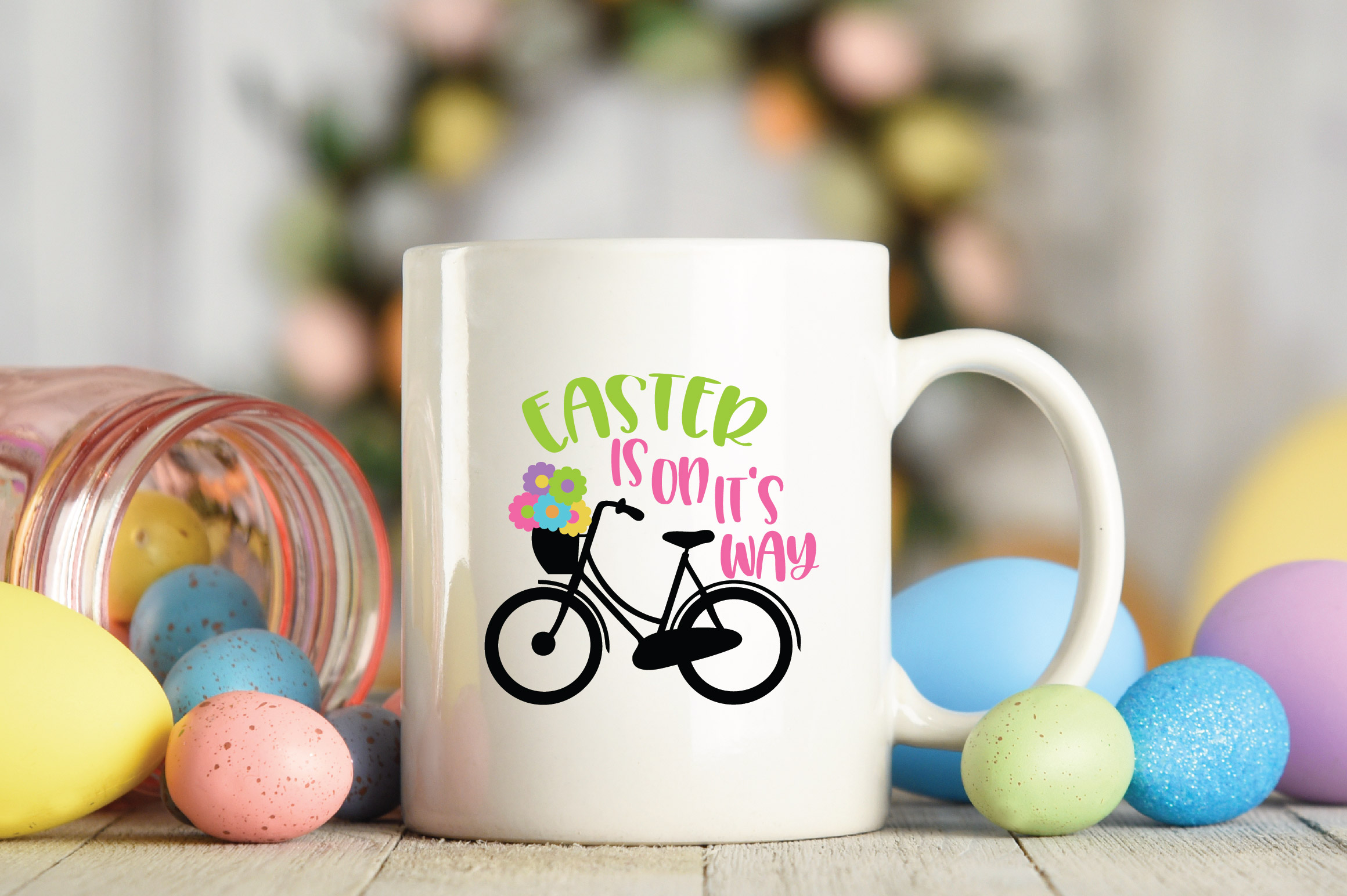 Easter SVG Cut File - Easter is on it's way SVG DXF EPS PNG example image 3