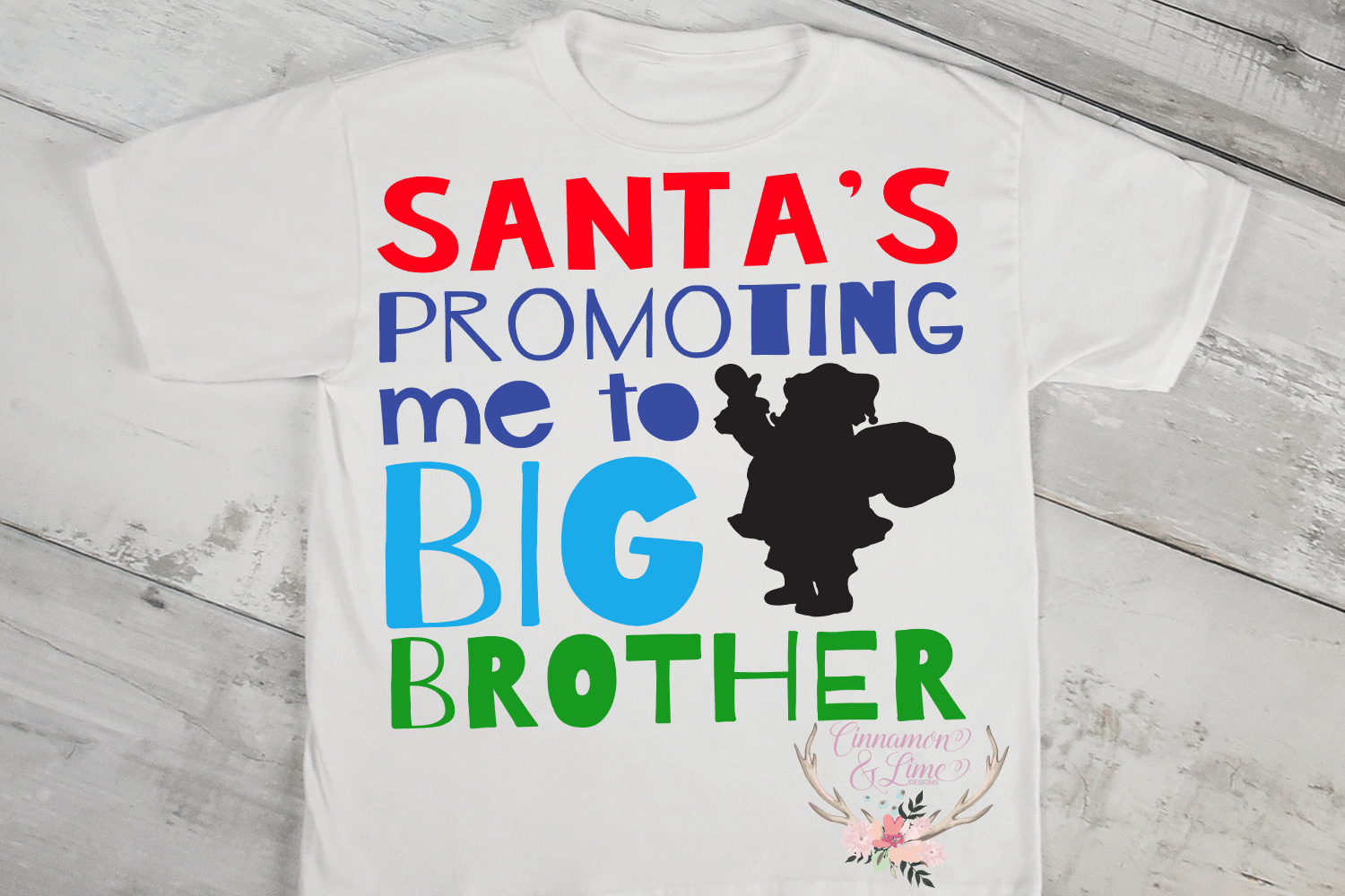 Christmas SVG - Santa's Promoting me to Big Brother example image 2