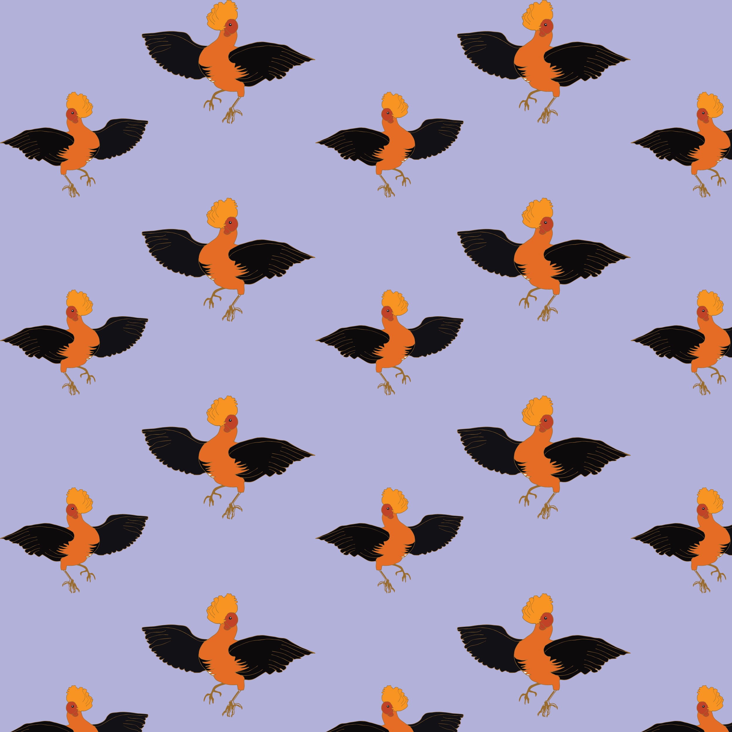 Fantasy Patterns with Birds example image 2