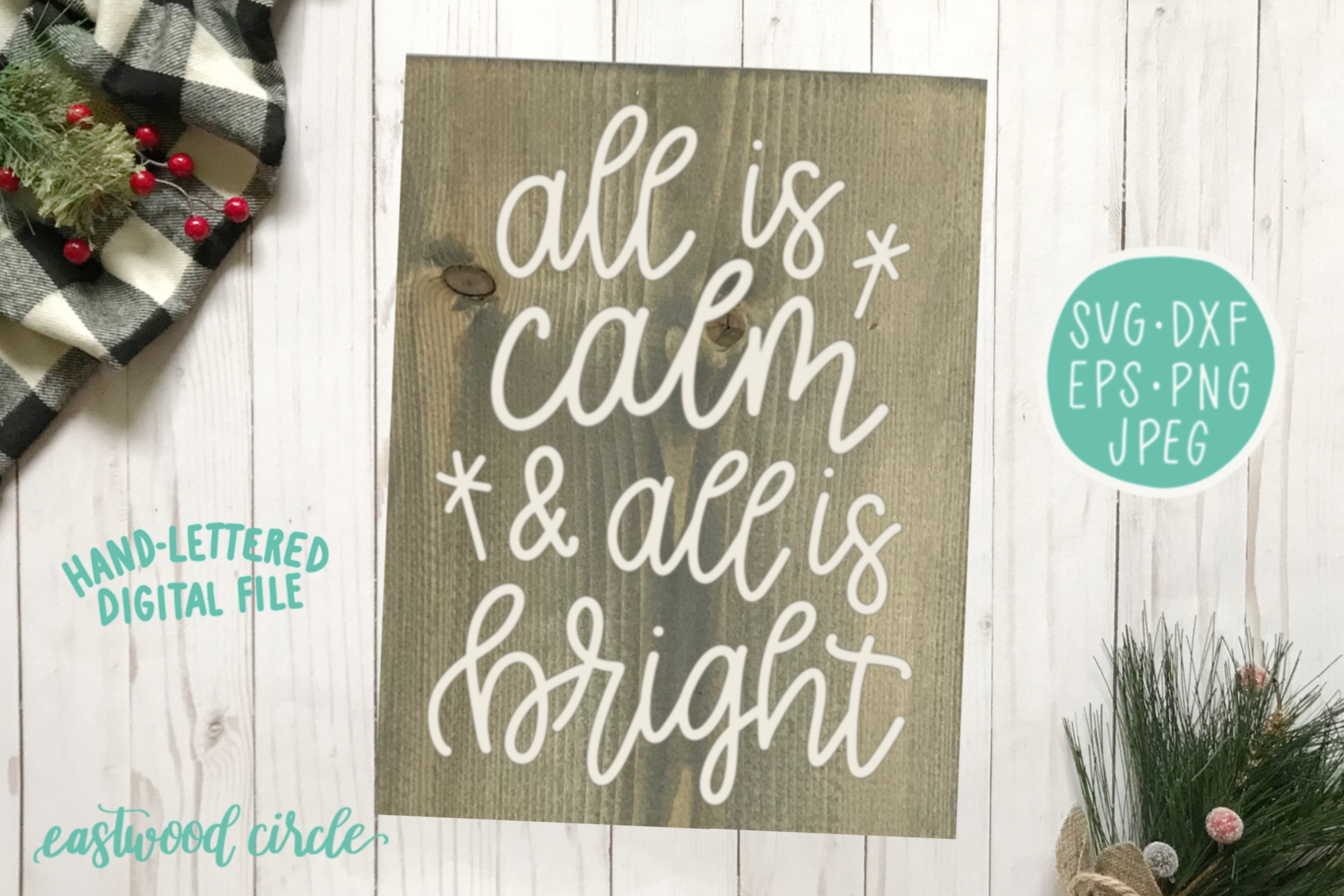 Christmas SVG Bundle - Hand Lettered Cut Files for Signs example image 5