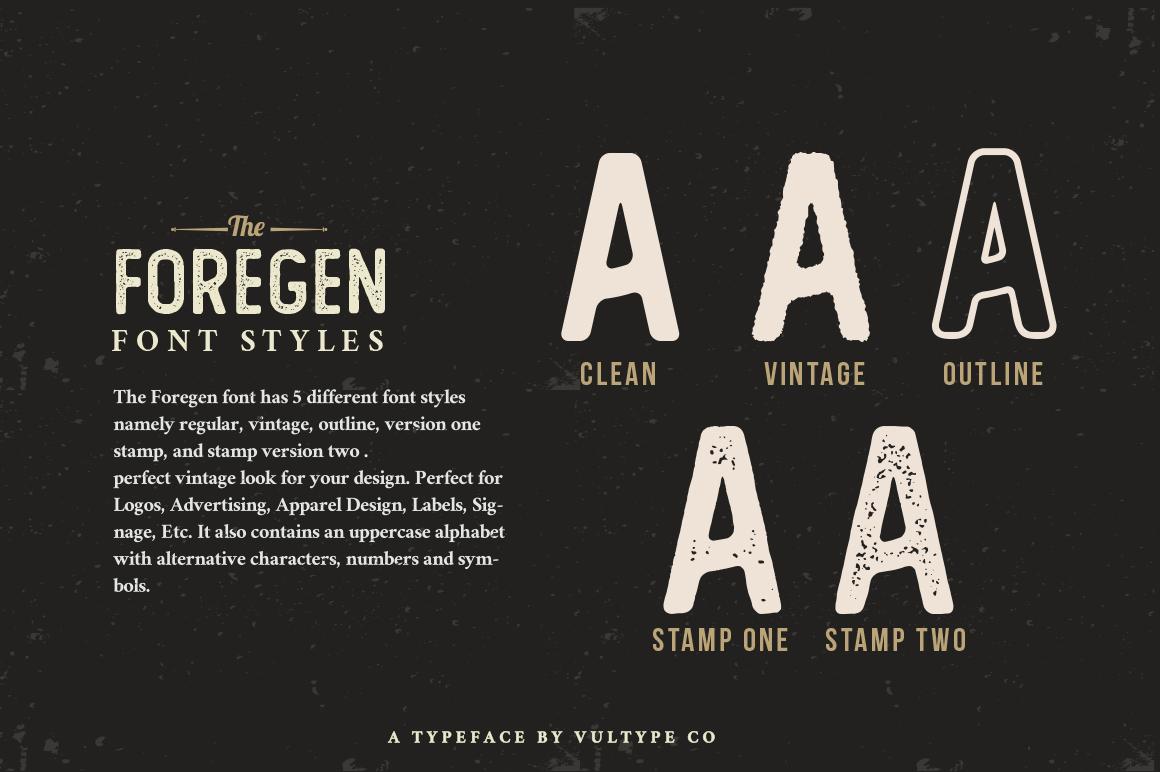 The Foregen - Vintage Sans Serif example image 2