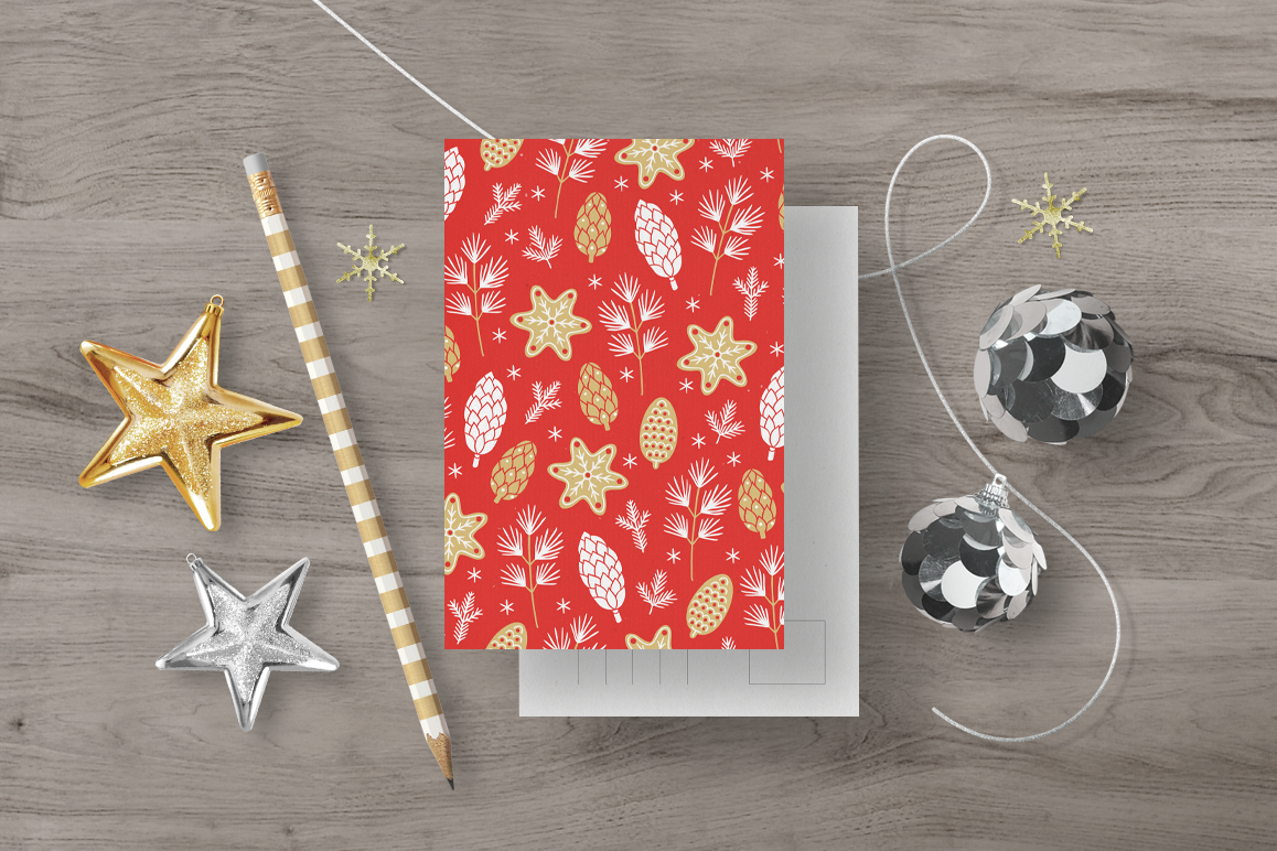 12 Christmas Seamless Patterns example image 6