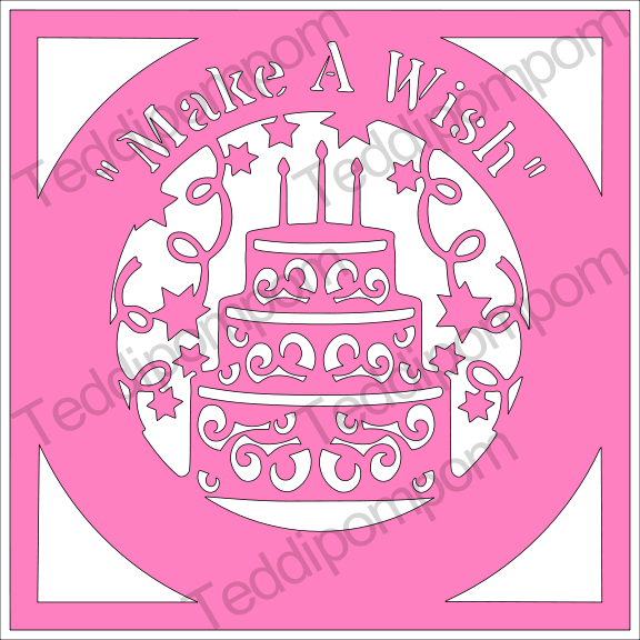Make A Wish Happy Birthday SVG example image 1