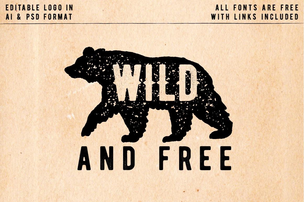 Rustic Logos & Illustrations vol. 1 AI PNG example image 3