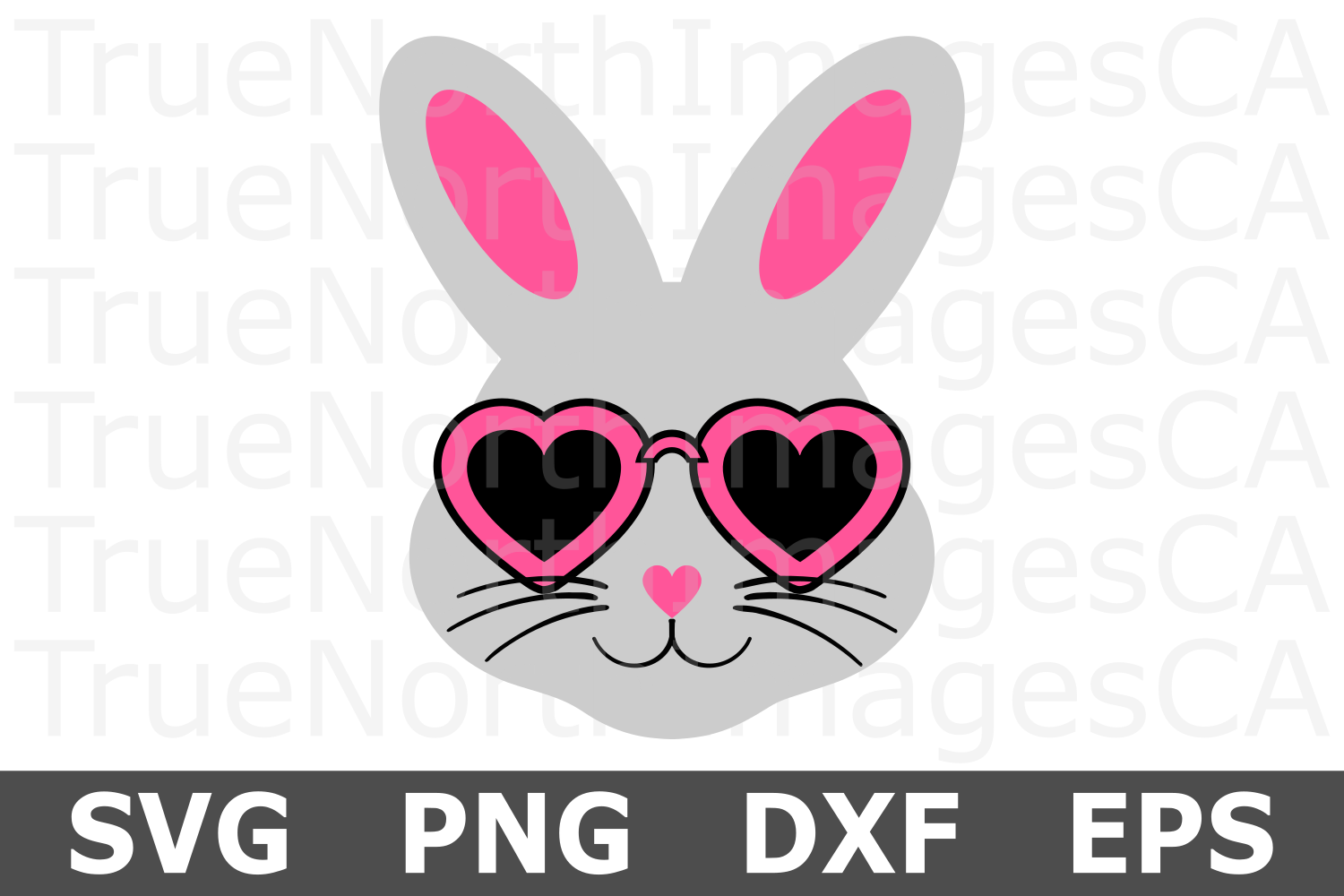 Bunny Face Girl - An Easter SVG Cut File example image 2