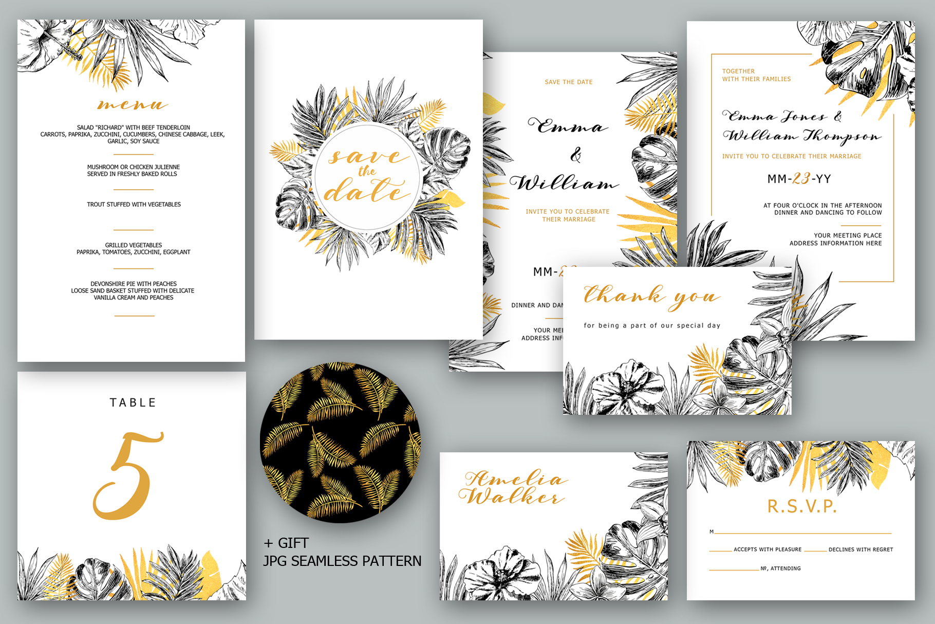 Golden Tropical Wedding example image 3