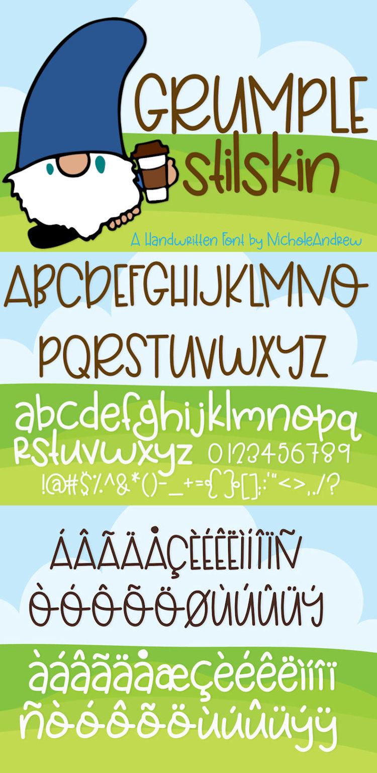 Grumplestilskin - A Handwritten Font example image 5