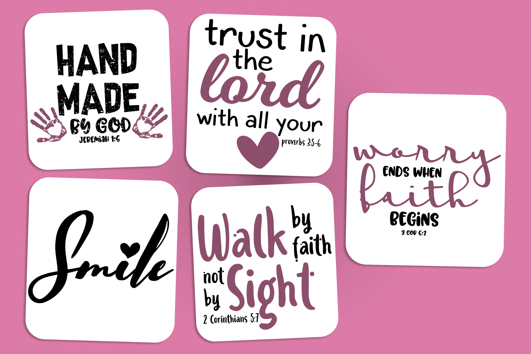 Bible Verses SVG Bundle - Religious Christian Blessed Bundle example image 2