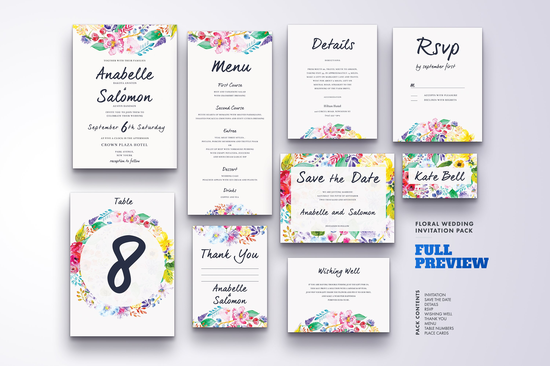 Floral Wedding Invitation Bundle example image 13