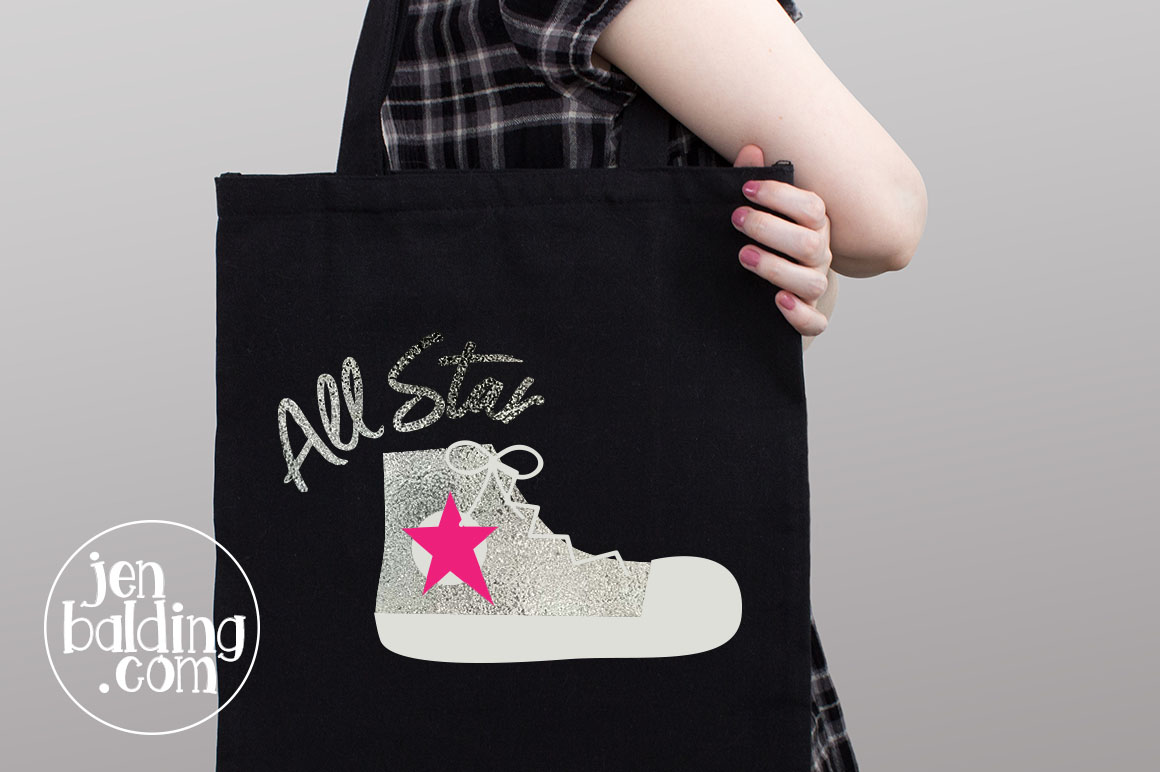 All Star Shoe SVG example image 2