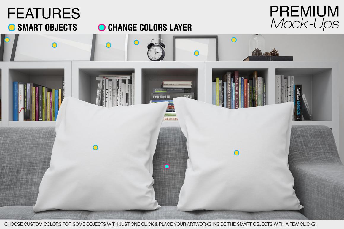 Pillows Mockup Set example image 2