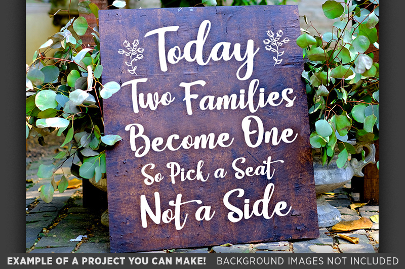 Today Two Families Become One SVG File - Wedding SVG - 5501 example image 3