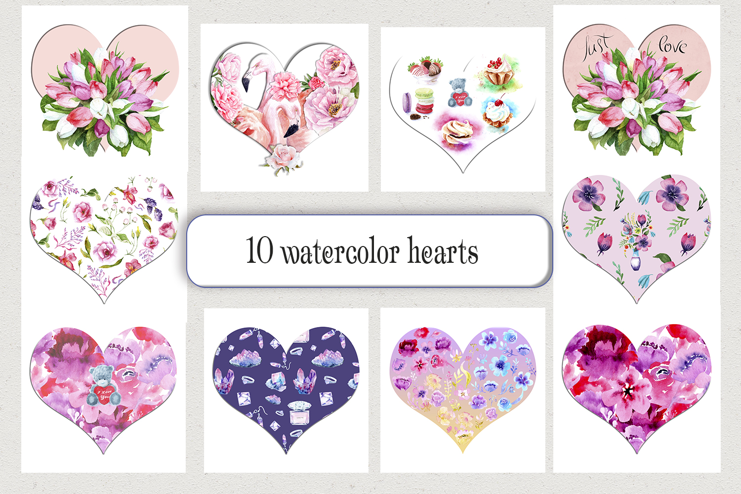 Watercolor Valentine's Day example image 6