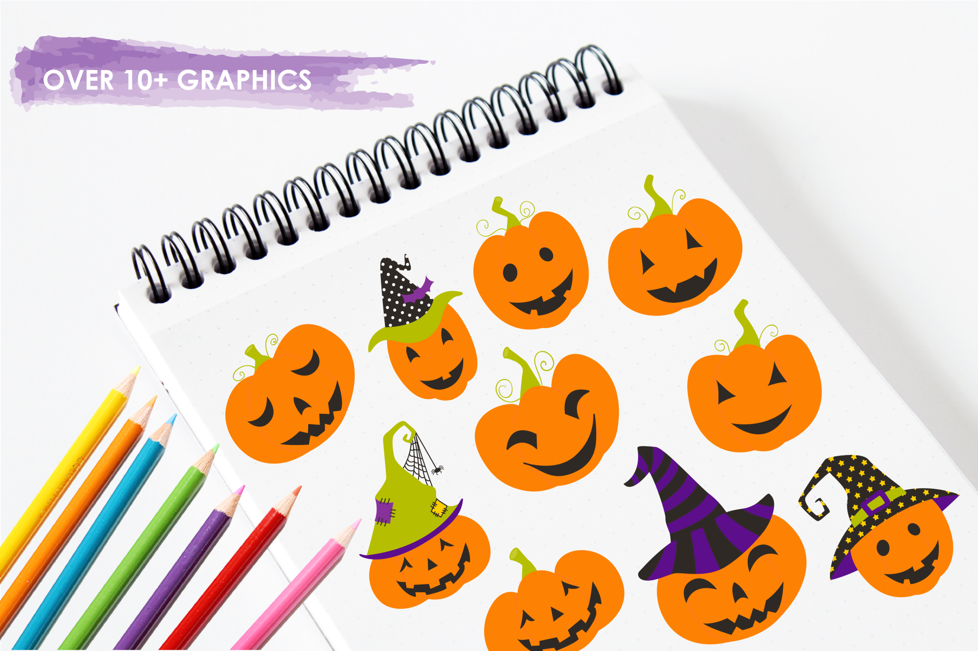 Jack O' Lanterns graphics and illustrations example image 3