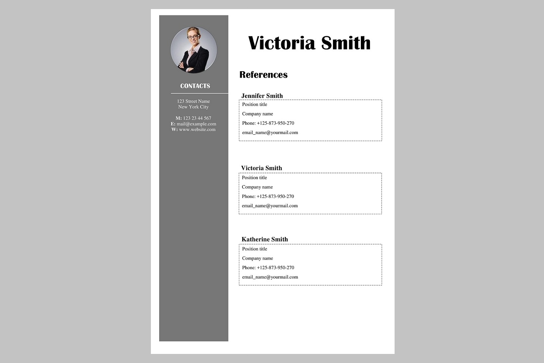 Creative resume template / CV example image 4