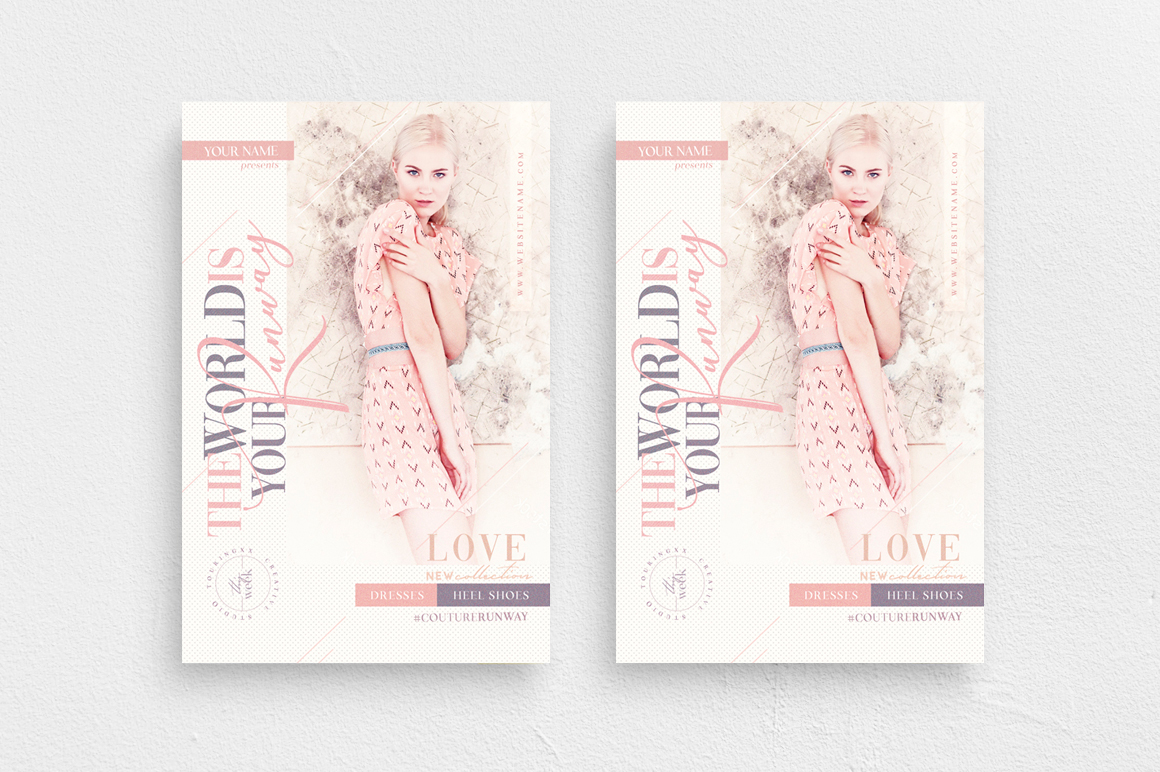 The World Is Your Runway Flyer Template example image 1