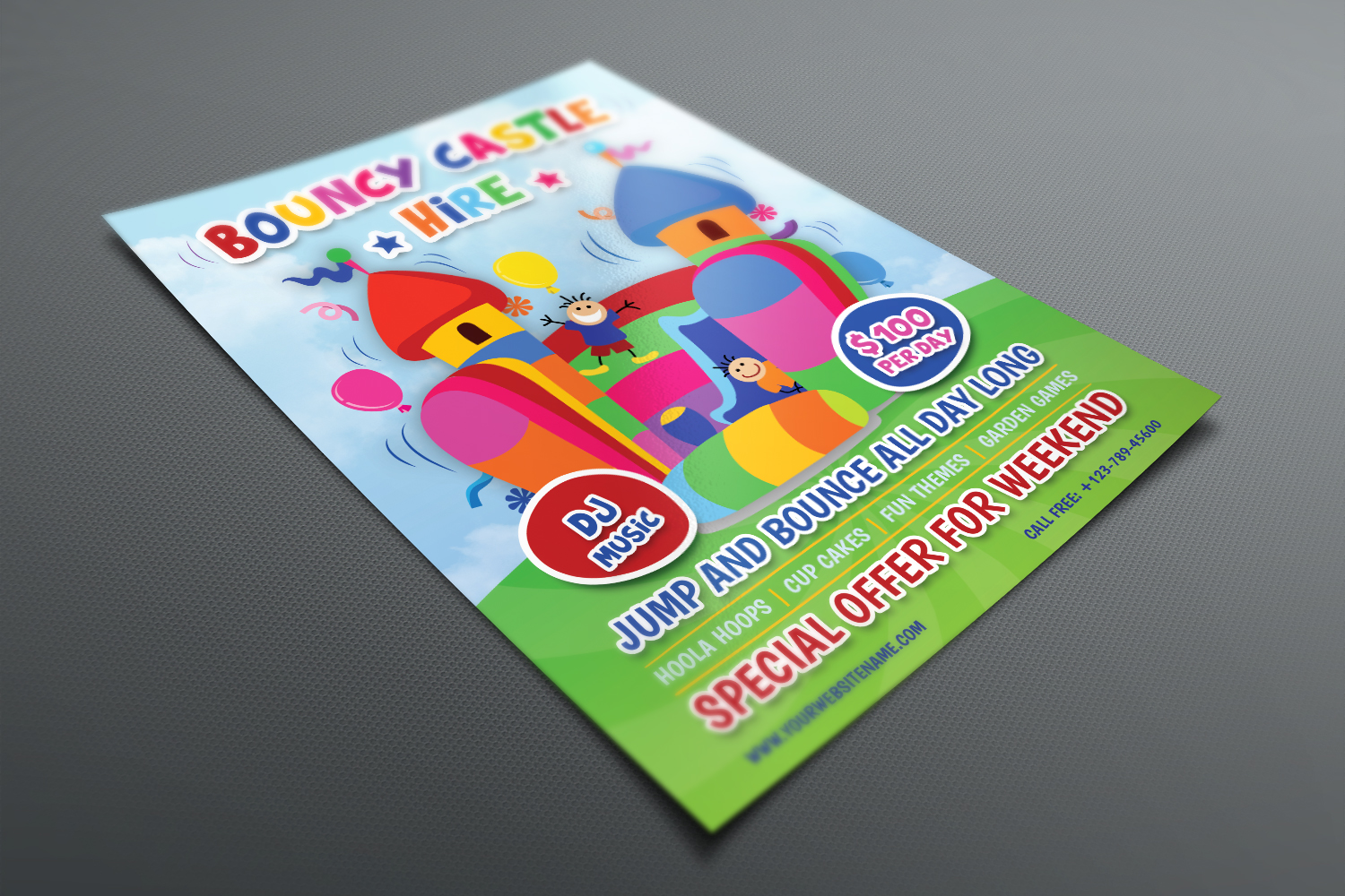 Bouncy Castle Hire Flyer Template example image 3