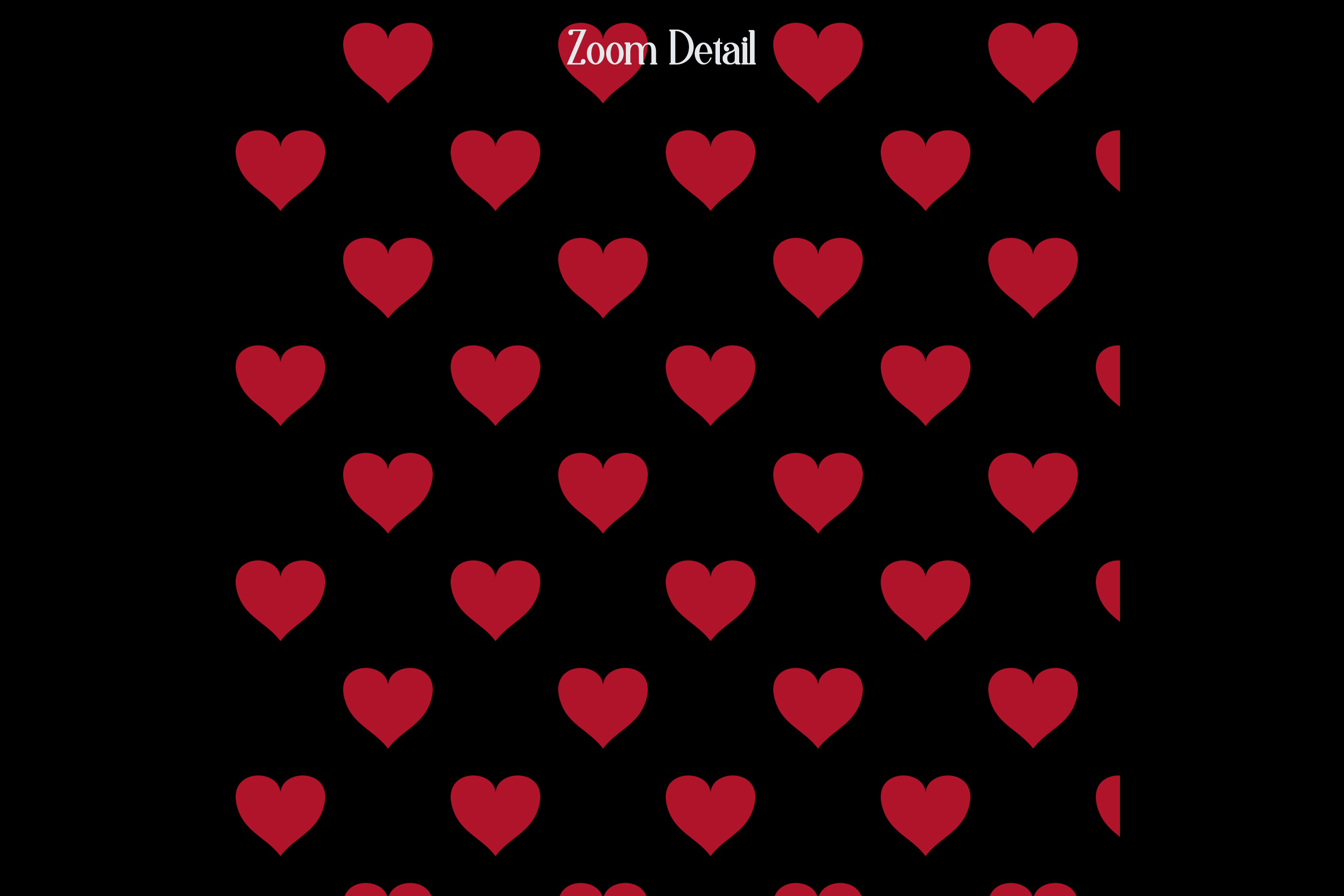 100 Seamless Black and Solid Heart Valentine Digital Papers example image 8