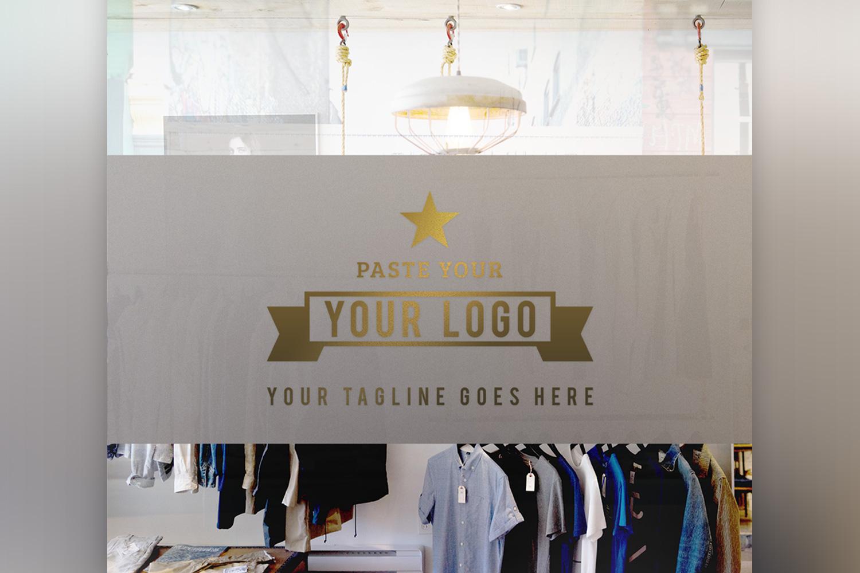 Store Front Vinyl Logo Mockup  example image 3