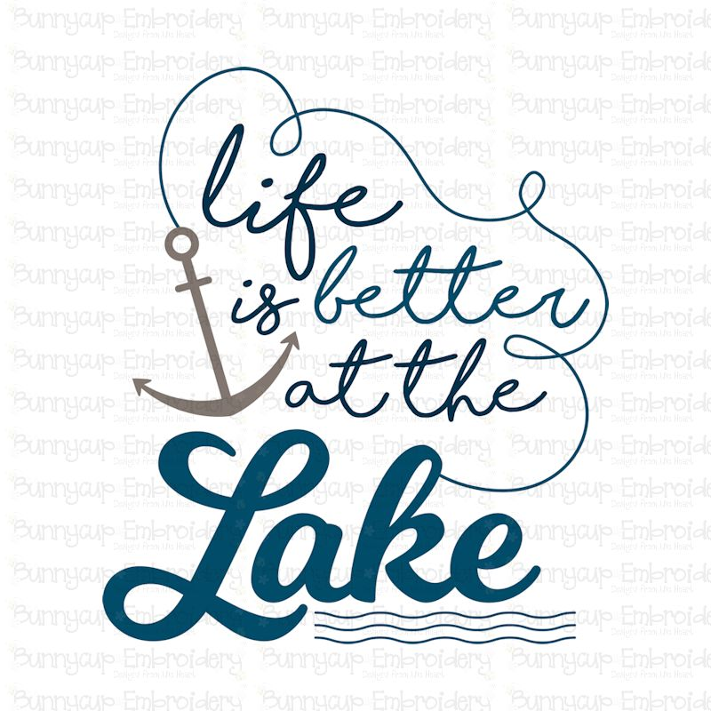 Life Is Better At The Lake - SVG, Clipart, Printable example image 2