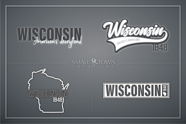 Wisconsin, America's Dairyland, Logo, PRINT, CUT & DESIGN example image 1
