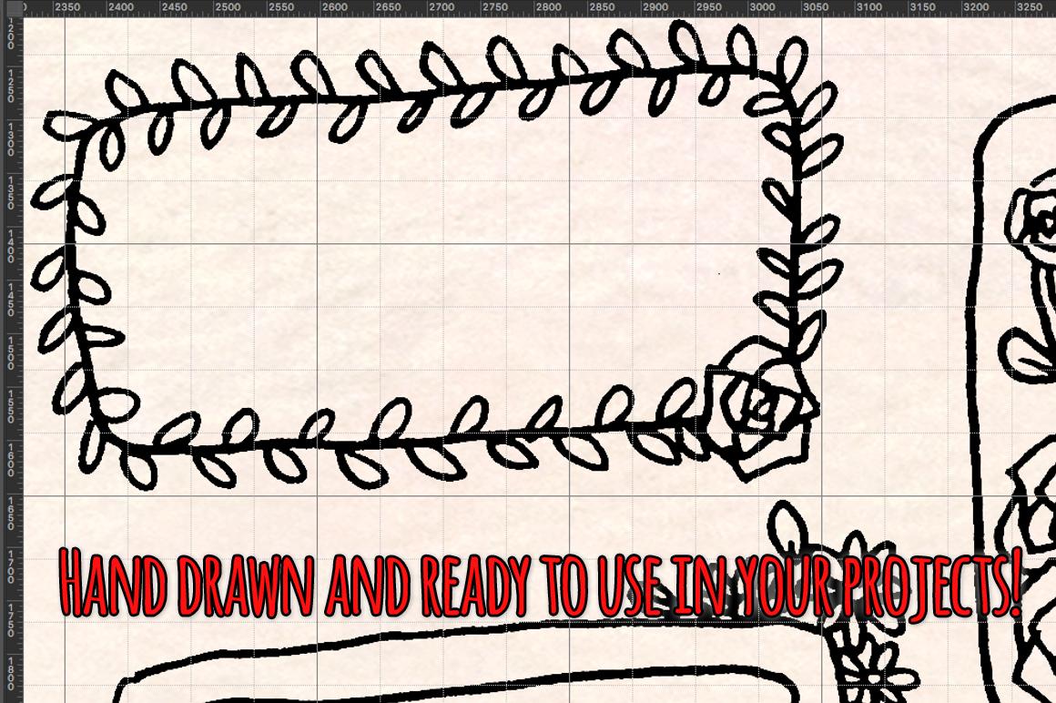 48 Photo Frames Planner Edges - Graphics Bundle example image 3
